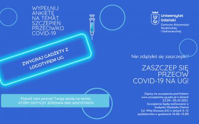 Wypełnij krótką ankietę dotyczącą akcji informacyjnej o szczepieniach i wygraj gadżety UG!